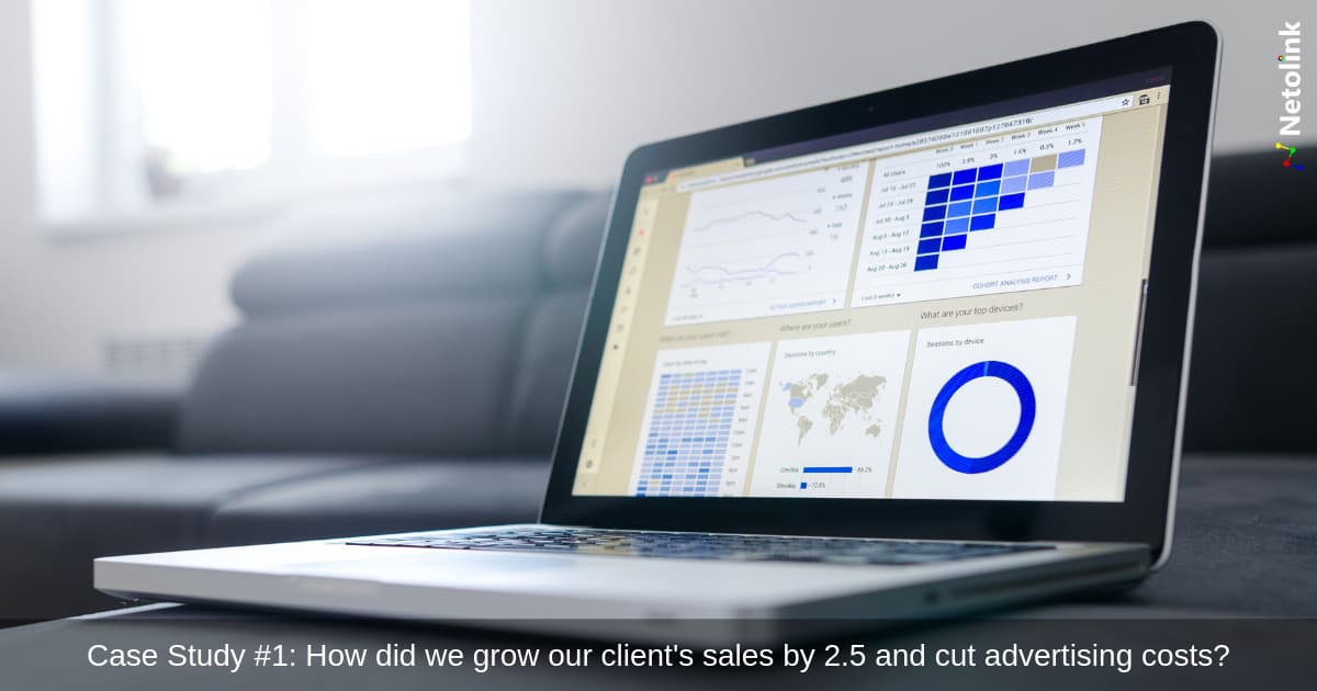 Case Study #1: How did we grow our client's sales by 2.5 and cut advertising costs?